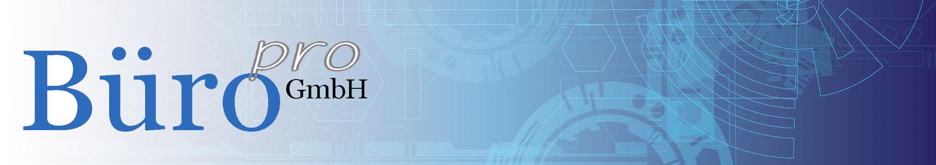 Webseite der Büro pro GmbH